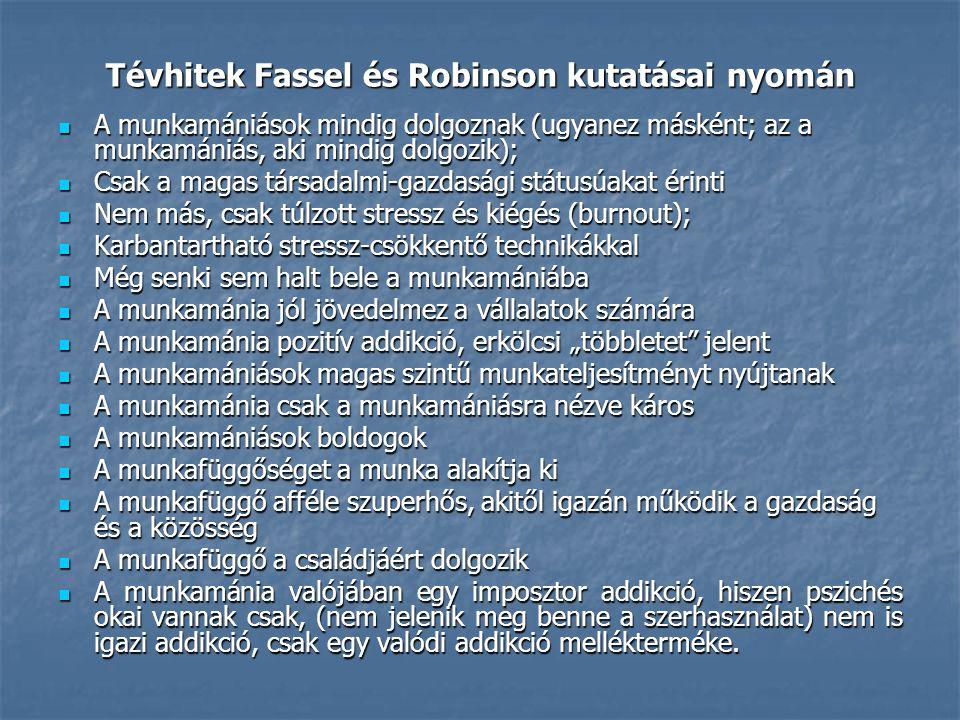 Tévhitek Fassel és Robinson kutatásai nyomán