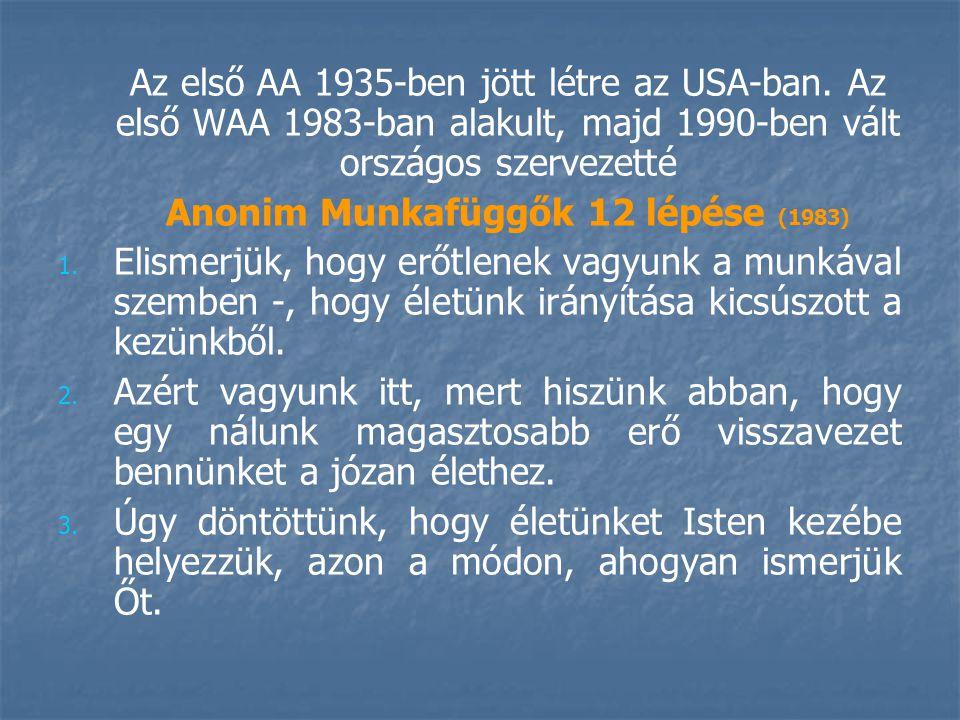 Anonim Munkafüggők 12 lépése (1983)