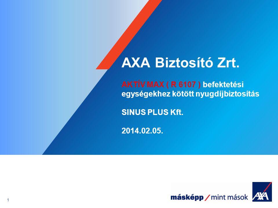 AXA Biztosító Zrt. AKTÍV MAX ( R 6107 ) befektetési egységekhez kötött nyugdíjbiztosítás. SINUS PLUS Kft.