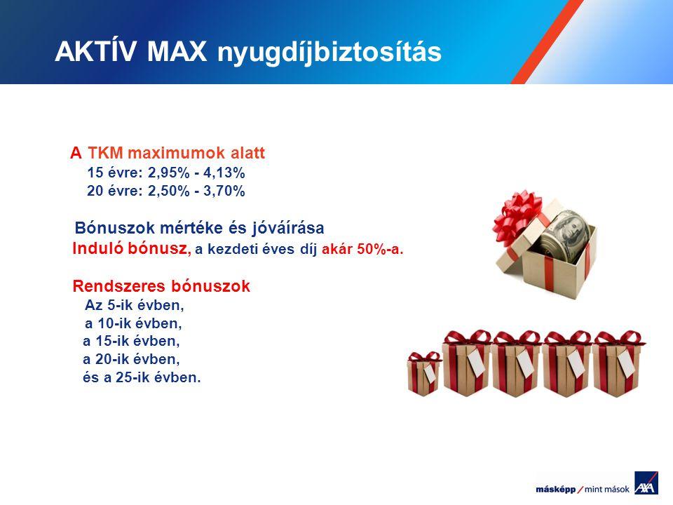 AKTÍV MAX nyugdíjbiztosítás