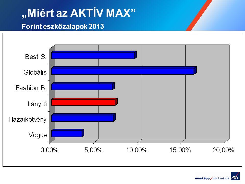 """""""Miért az AKTÍV MAX Forint eszközalapok 2013"""