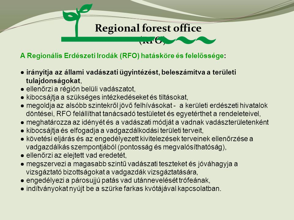 Regional forest office (RFO)