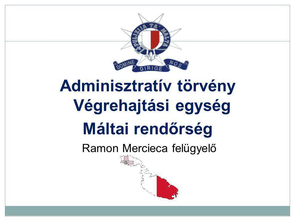 Adminisztratív törvény Végrehajtási egység