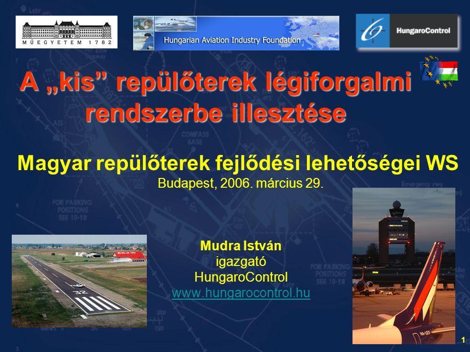 """A """"kis repülőterek légiforgalmi rendszerbe illesztése"""