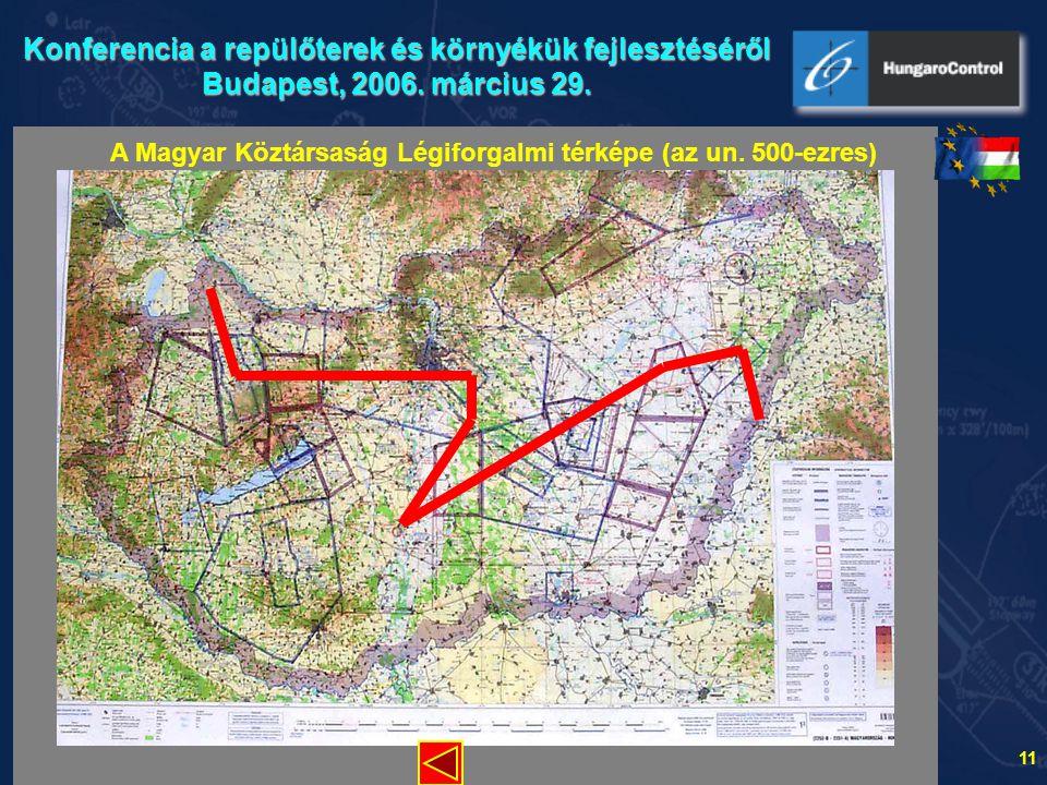A Magyar Köztársaság Légiforgalmi térképe (az un. 500-ezres)