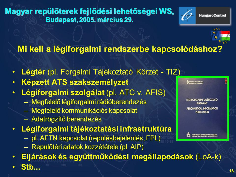 Mi kell a légiforgalmi rendszerbe kapcsolódáshoz