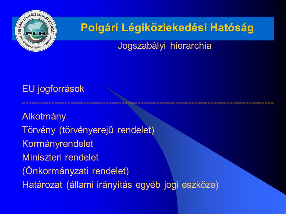 Jogszabályi hierarchia