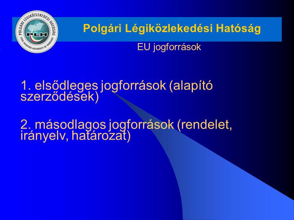 1. elsődleges jogforrások (alapító szerződések)
