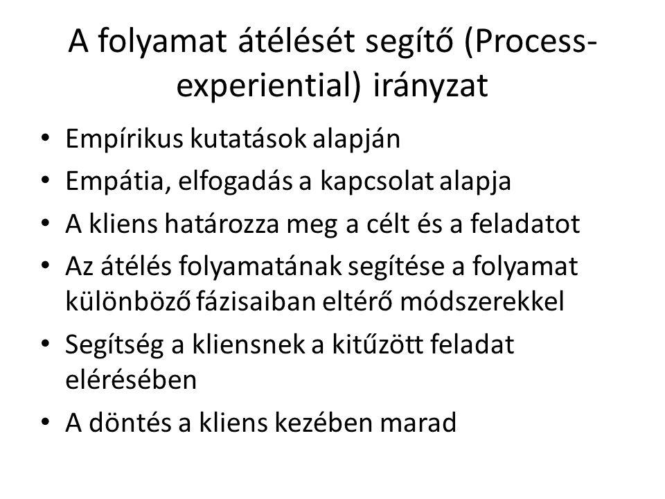 A folyamat átélését segítő (Process-experiential) irányzat