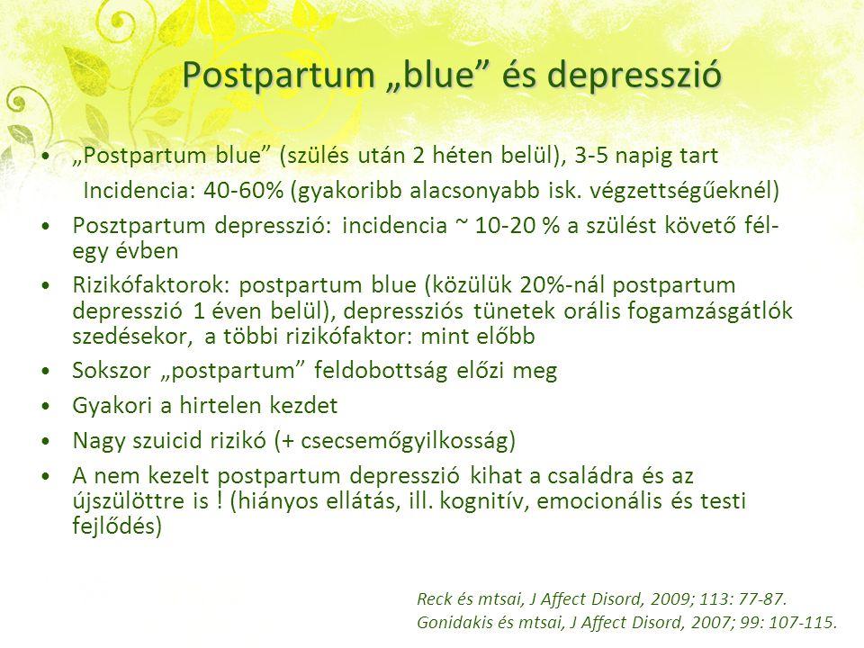 """Postpartum """"blue és depresszió"""