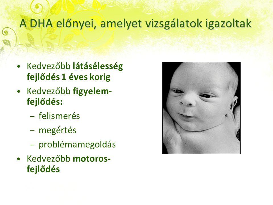 A DHA előnyei, amelyet vizsgálatok igazoltak
