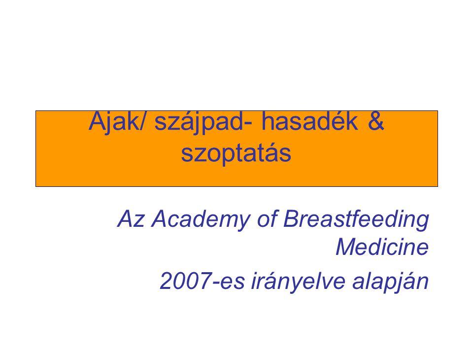 Ajak/ szájpad- hasadék & szoptatás