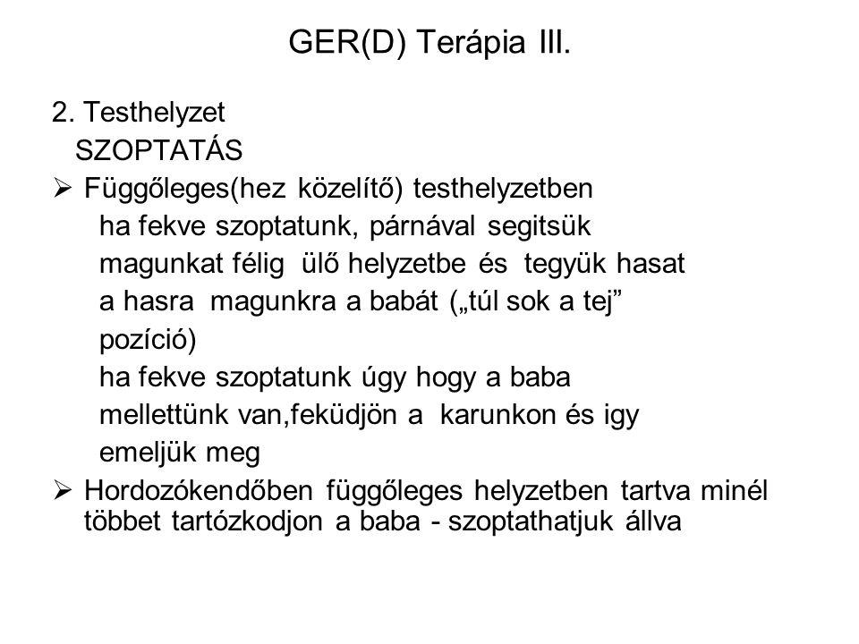 GER(D) Terápia III. 2. Testhelyzet SZOPTATÁS