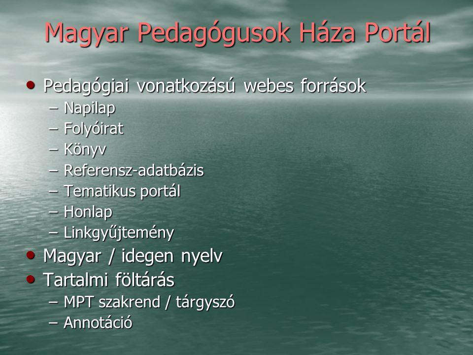 Magyar Pedagógusok Háza Portál