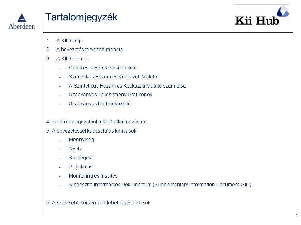 A KIID célja Az egyszerűsített tájékoztatót elvetették, mivel az alábbi okok miatt elégtelennek bizonyult: