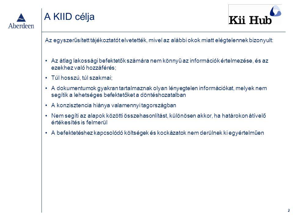 A KIID célja (folytatás)