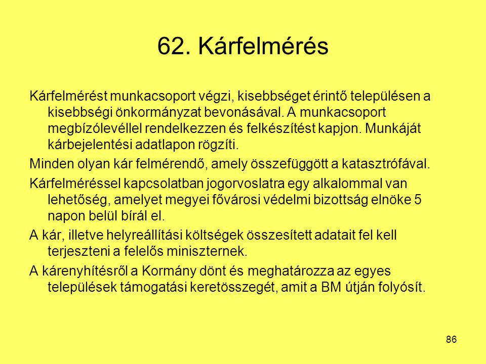 62. Kárfelmérés