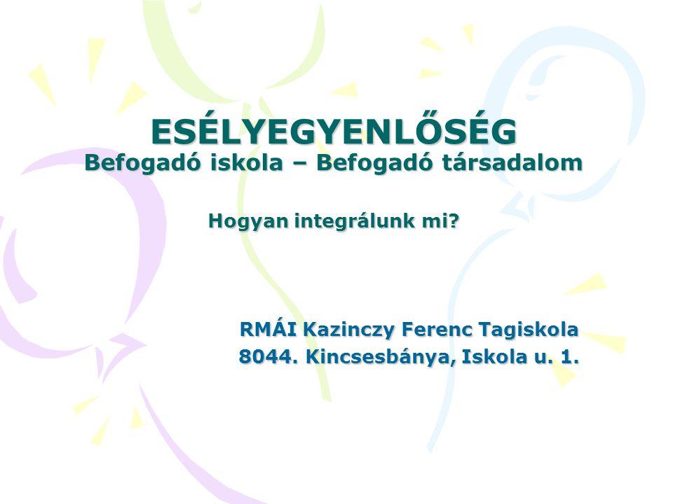 RMÁI Kazinczy Ferenc Tagiskola 8044. Kincsesbánya, Iskola u. 1.
