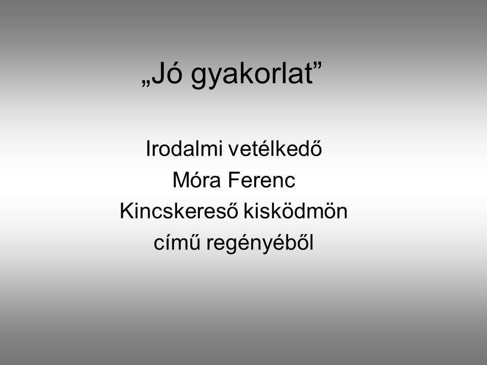 Irodalmi vetélkedő Móra Ferenc Kincskereső kisködmön című regényéből