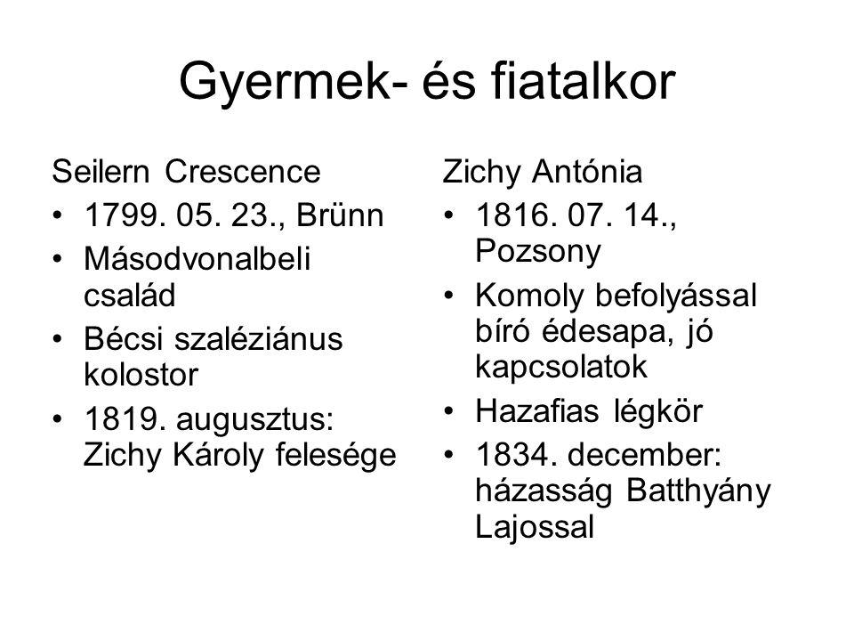 Gyermek- és fiatalkor Seilern Crescence 1799. 05. 23., Brünn