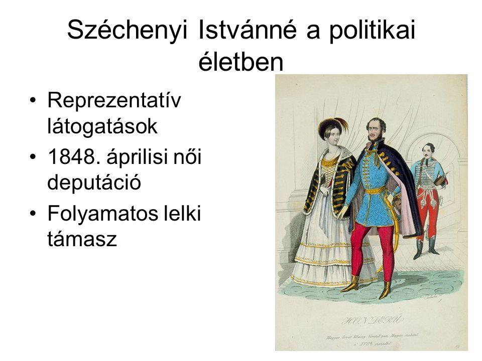Széchenyi Istvánné a politikai életben