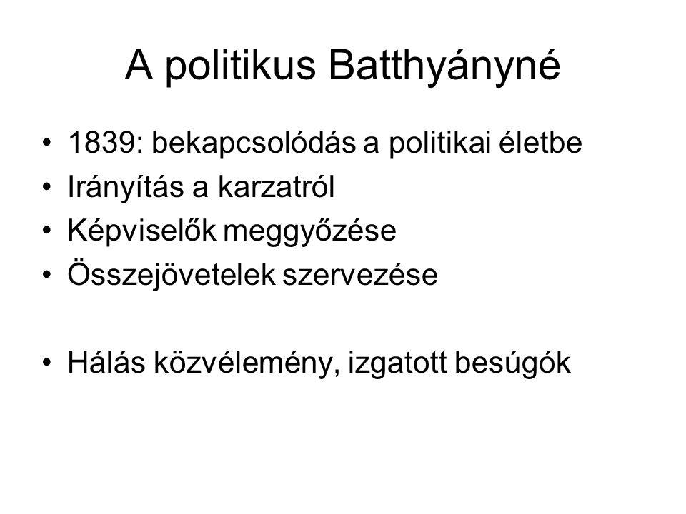 A politikus Batthyányné
