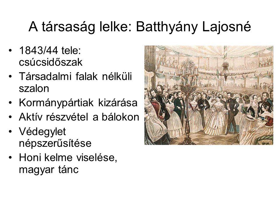 A társaság lelke: Batthyány Lajosné
