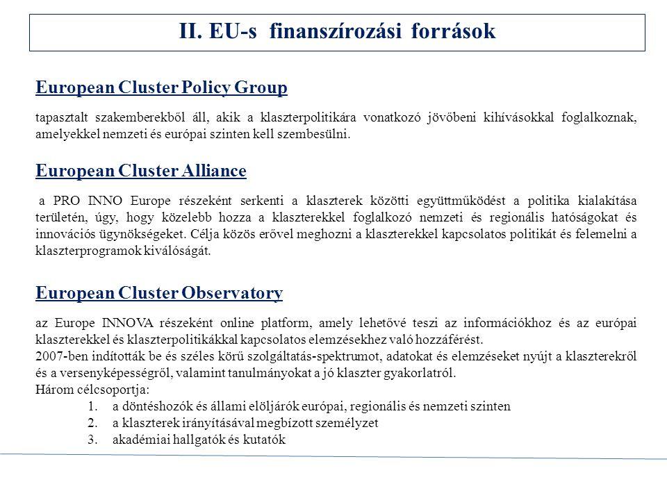 II. EU-s finanszírozási források