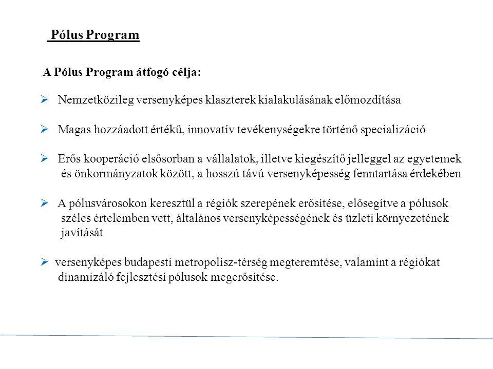 Pólus Program A Pólus Program átfogó célja: