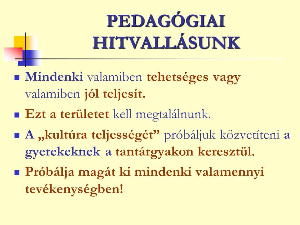 PEDAGÓGIAI HITVALLÁSUNK