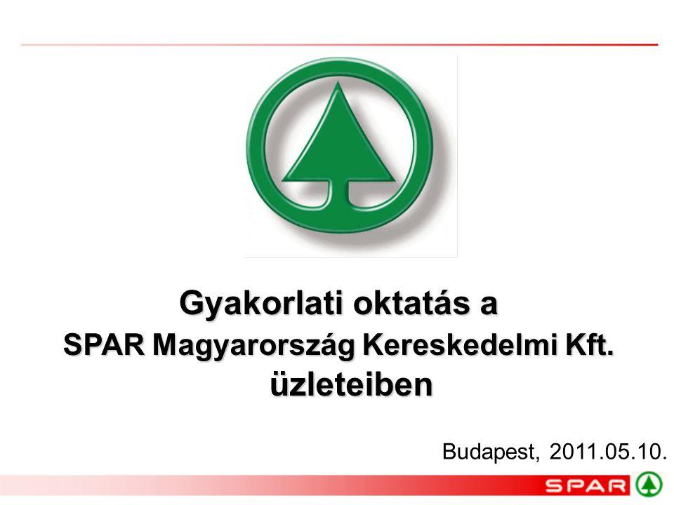 SPAR Magyarország Kereskedelmi Kft. üzleteiben