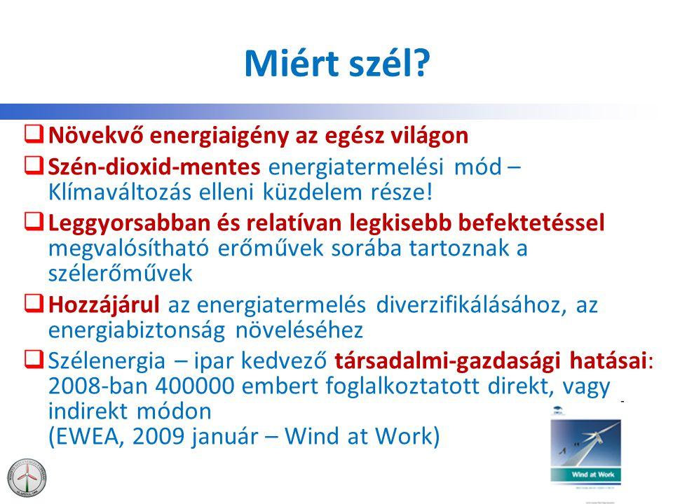 Miért szél Növekvő energiaigény az egész világon