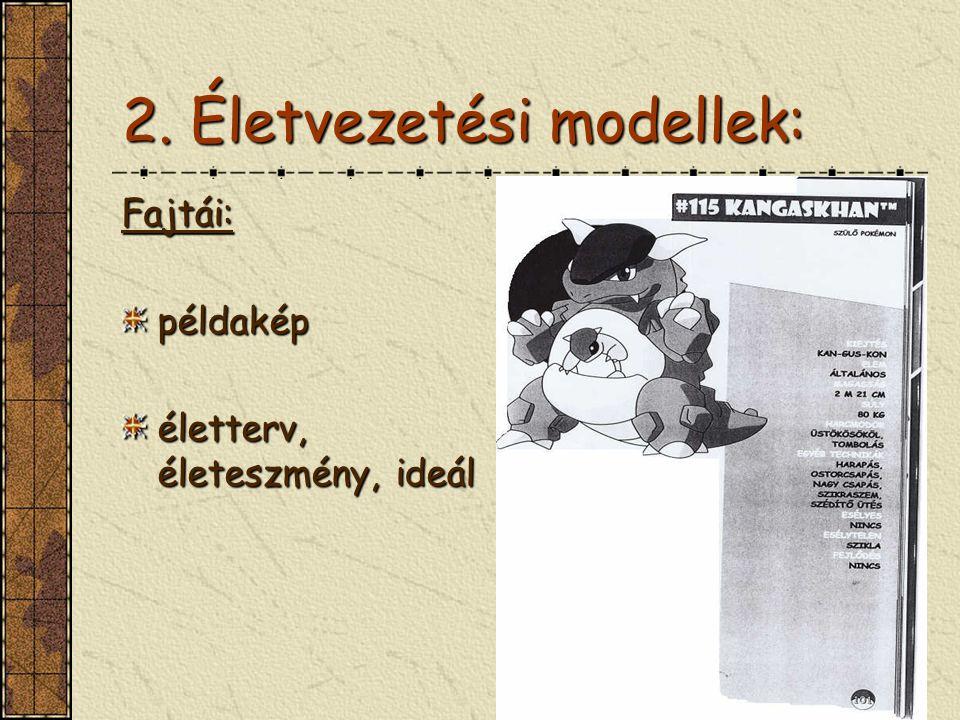 2. Életvezetési modellek:
