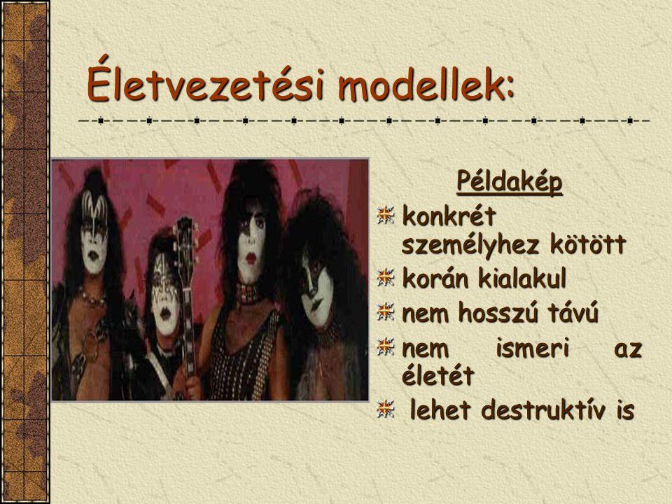 Életvezetési modellek: