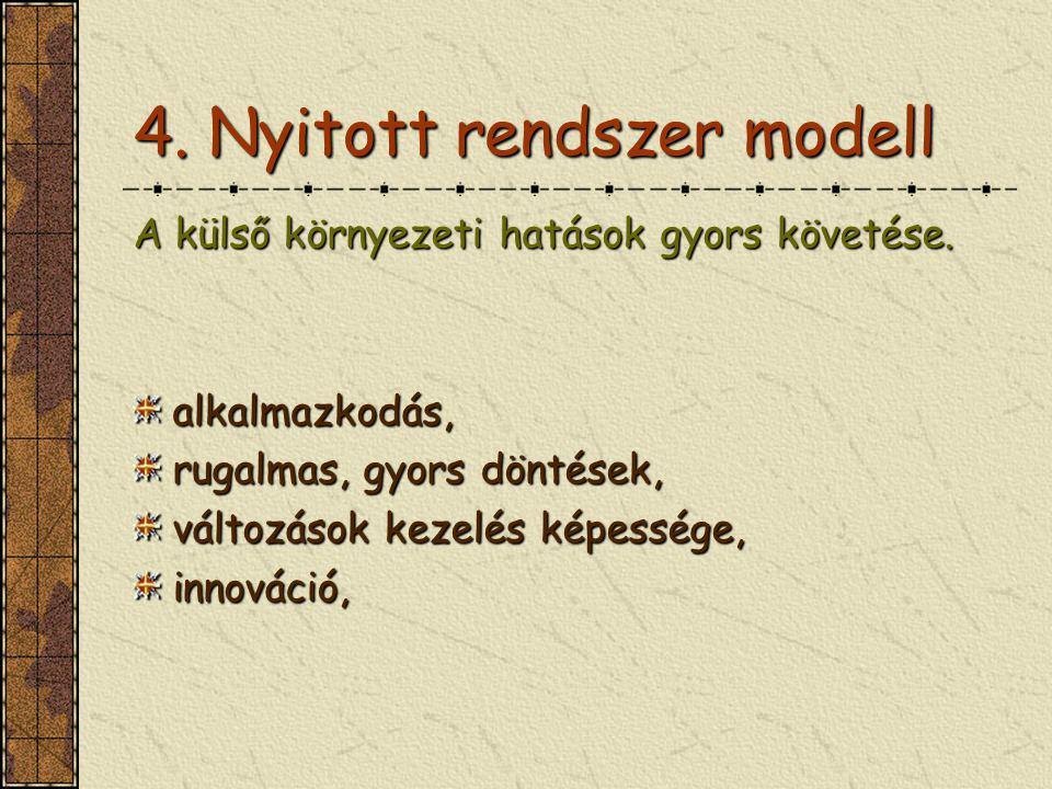 4. Nyitott rendszer modell