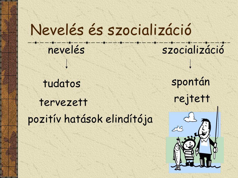 Nevelés és szocializáció