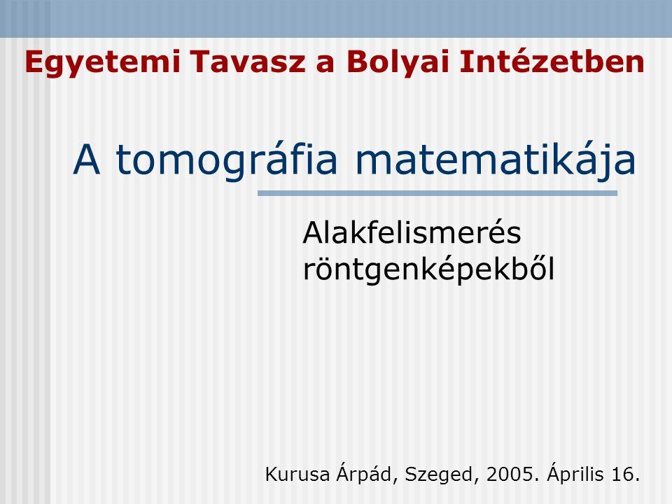 A tomográfia matematikája