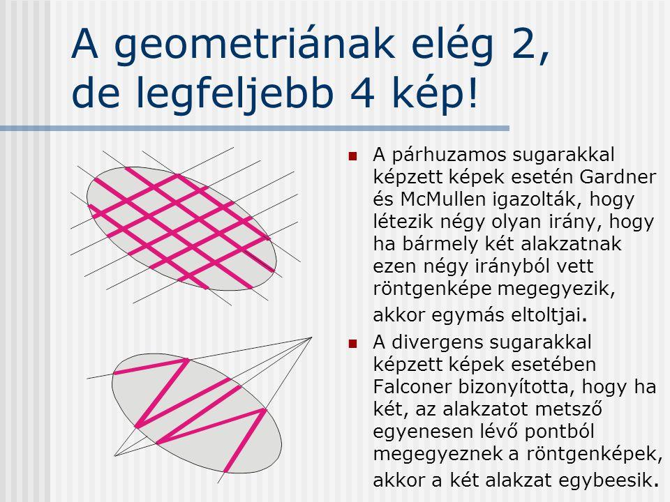 A geometriának elég 2, de legfeljebb 4 kép!