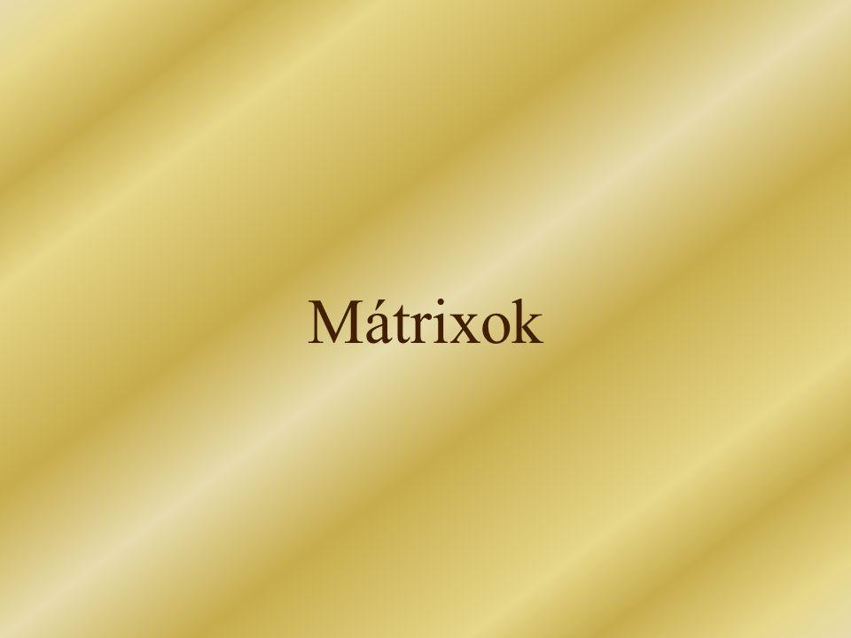 Mátrixok