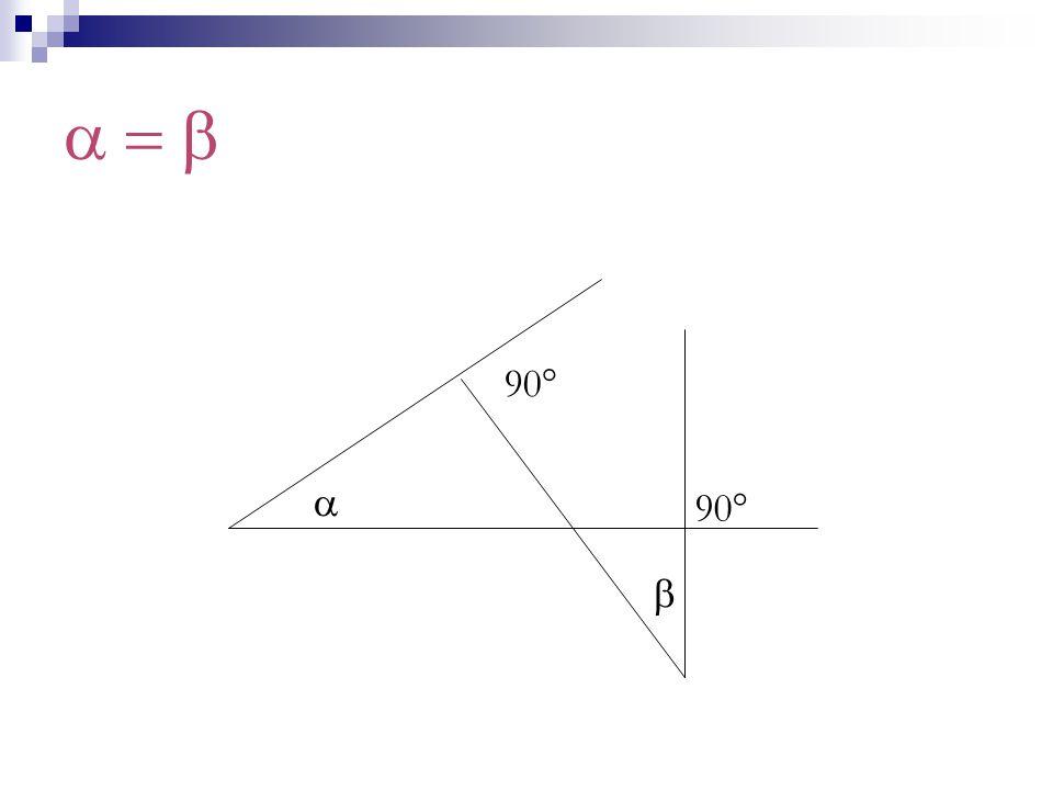 a = b 90° a 90° b