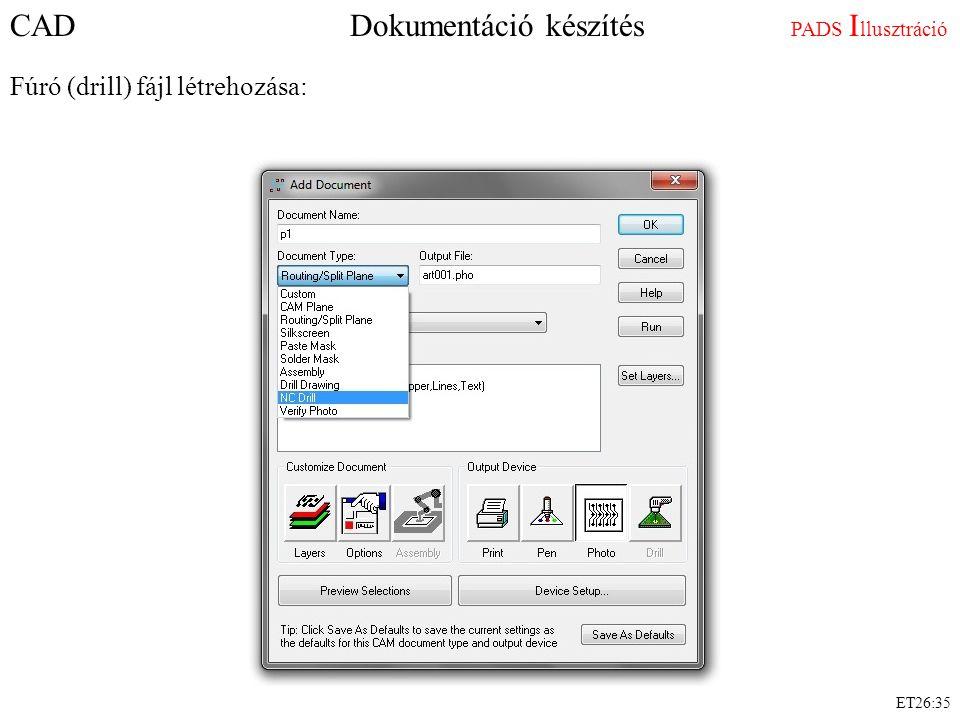 CAD Dokumentáció készítés PADS Illusztráció