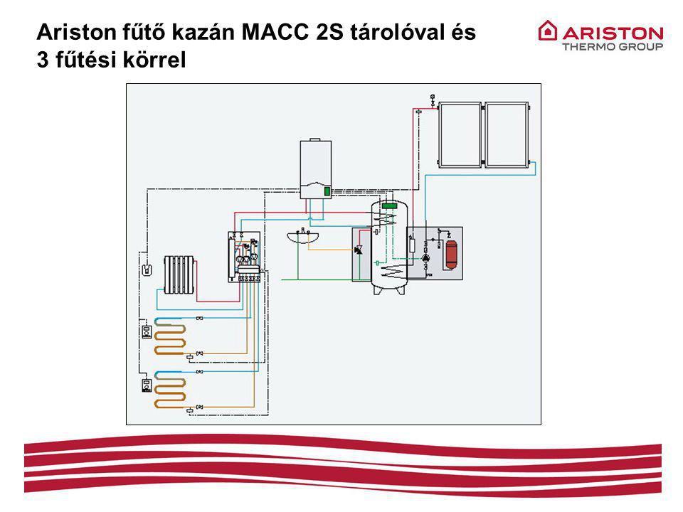 Ariston fűtő kazán MACC 2S tárolóval és 3 fűtési körrel