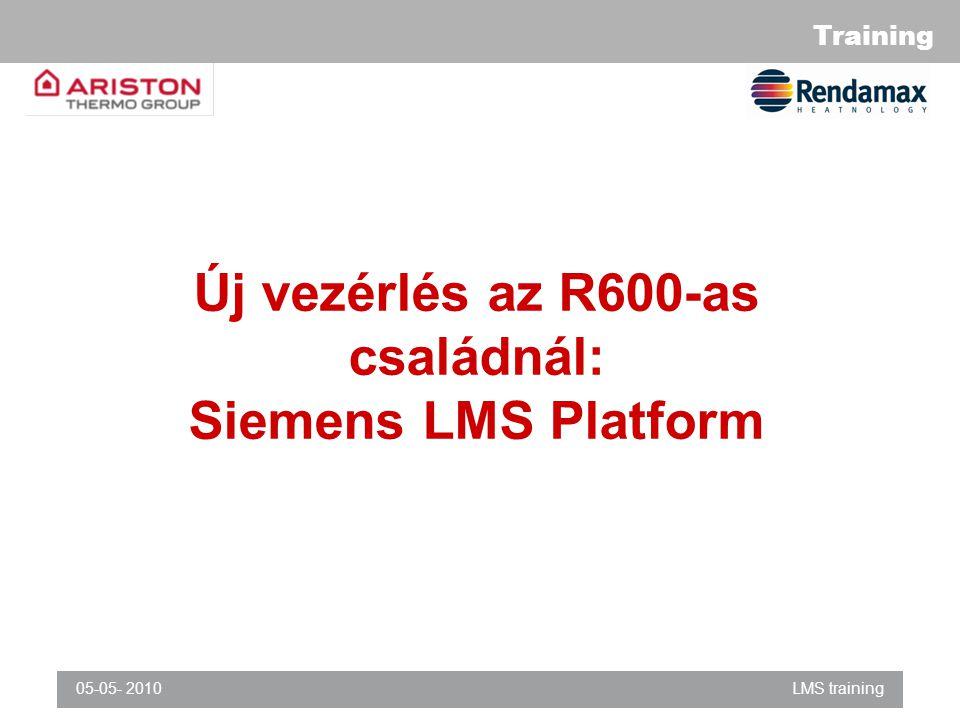 Új vezérlés az R600-as családnál: Siemens LMS Platform