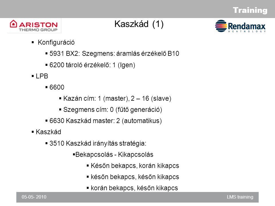 Kaszkád (1) Konfiguráció 5931 BX2: Szegmens: áramlás érzékelő B10