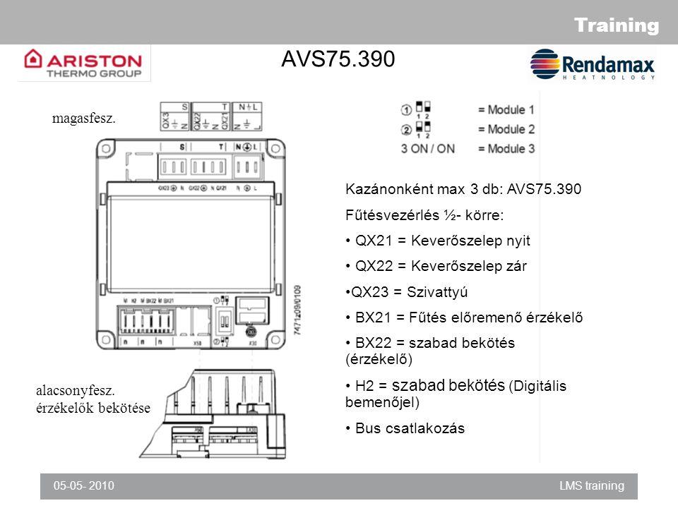 AVS75.390 magasfesz. Kazánonként max 3 db: AVS75.390