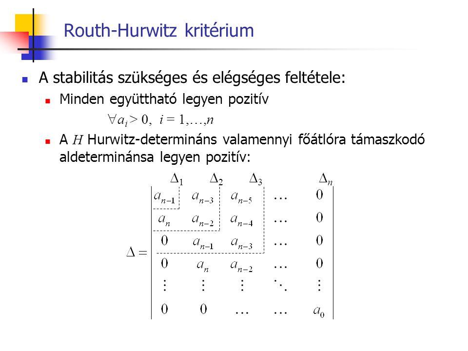 Routh-Hurwitz kritérium