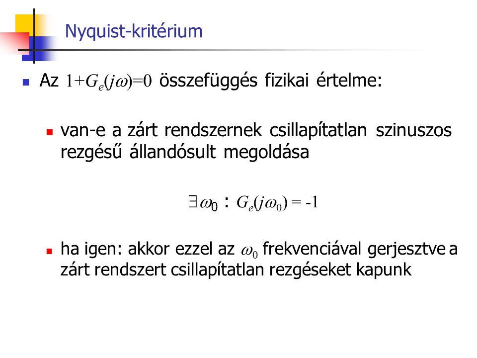 Az 1+Ge(j)=0 összefüggés fizikai értelme: