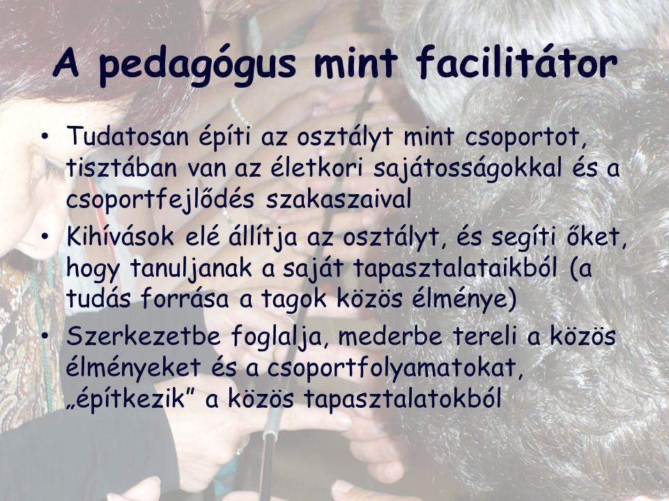 A pedagógus mint facilitátor