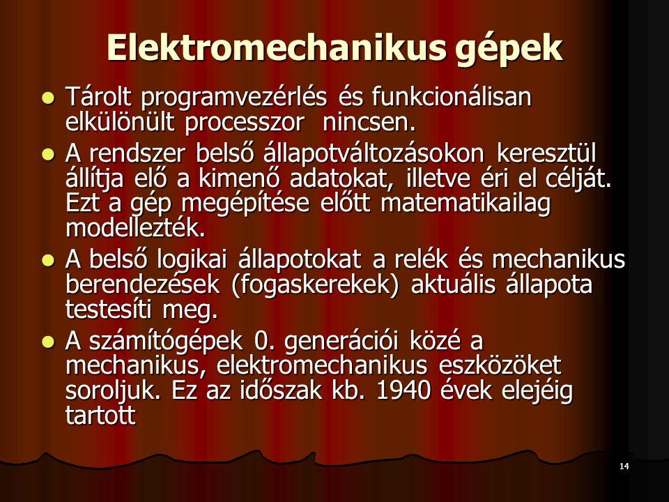 Elektromechanikus gépek