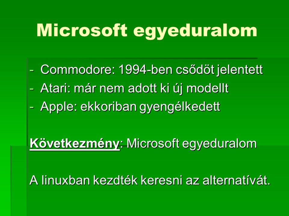 Microsoft egyeduralom